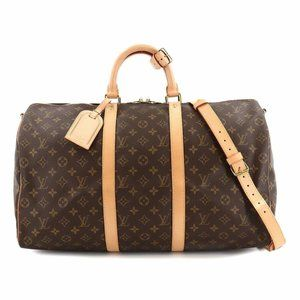 Auth Louis Vuitton Keepall 50 Bandouliere Travel